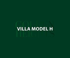 Model H – Unit 43 – Stand Alone Villa