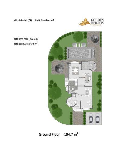 Model G  – Unit 44 – Stand Alone Villa